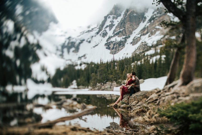 ROCKY MOUNTAIN NATIONAL PARK ANNIVERSARY   ESTES PARK PHOTOGRAPHER   THE DREAM LAKE ANNIVERSARY   COLORADO MOUNTAIN ENGAGEMENT PHOTOGRAPHER