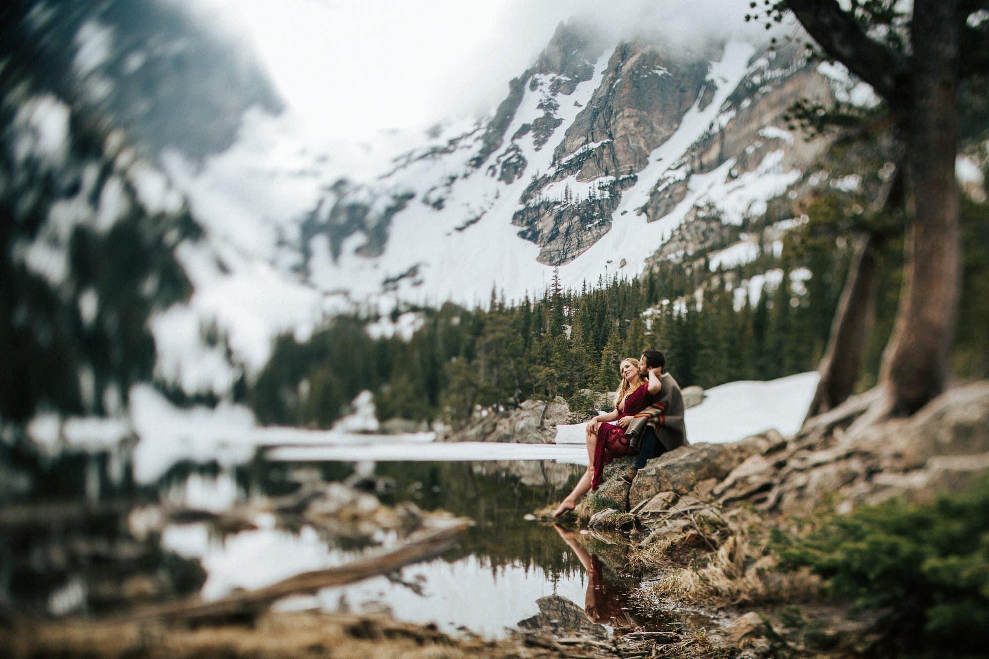 Dream Lake, RMNP, Colorado Intimate Elopement Photographer,