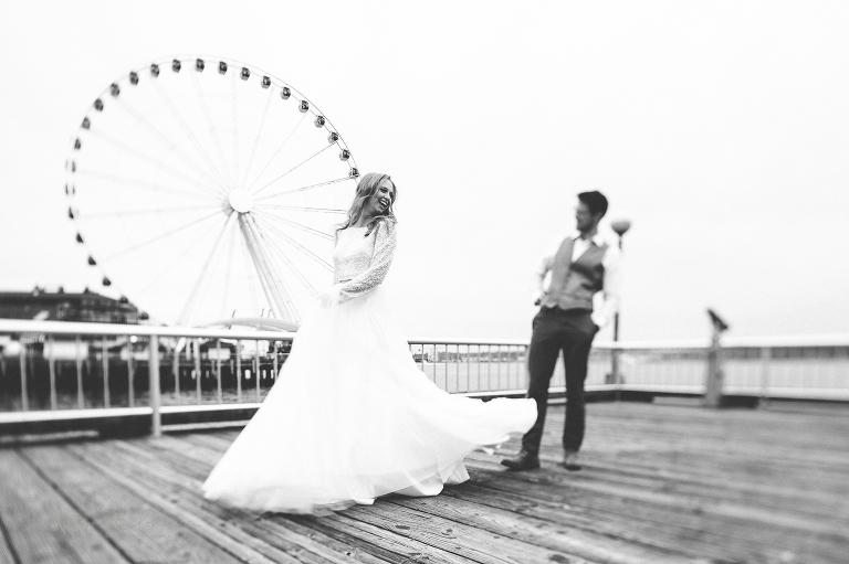 Destination Wedding Photographer, Washington Seattle Waterfront
