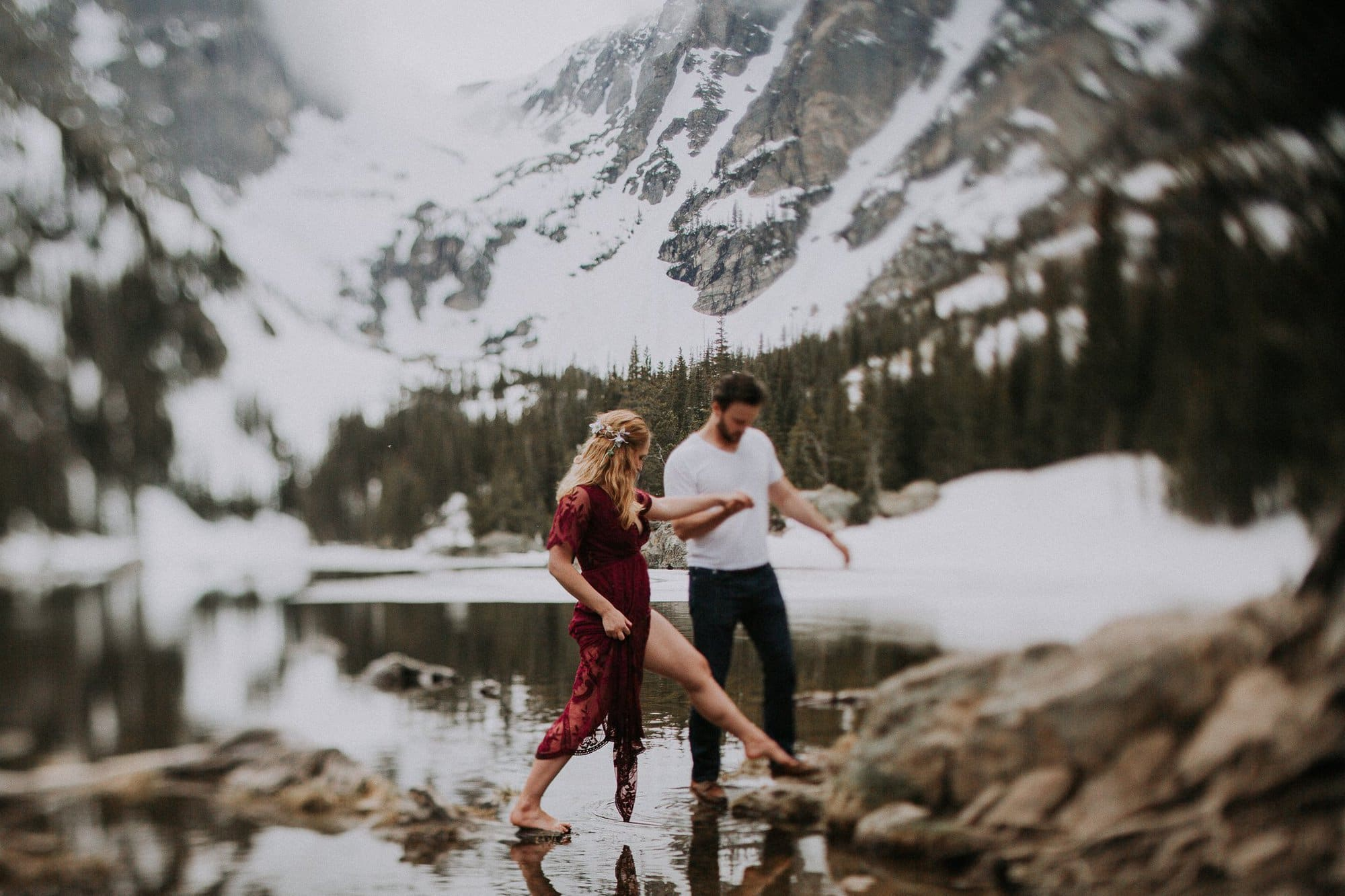 Dream Lake Anniversary Photos, Colorado Mountain Intimate Weddings and Adventurous Elopement Photographer, Justyna E Butler, Colorado Wedding Photographer