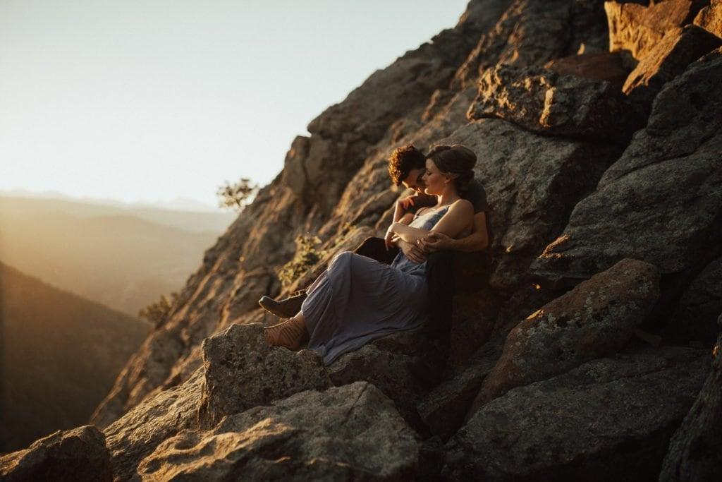 Lost Gulch Outlook, Boulder Colorado Adventure Engagement