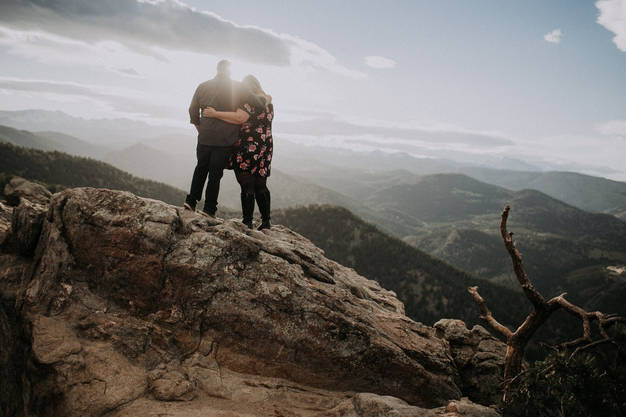 Lost Gulch Outlook, Boulder Colorado Engagement Session, Justyna E Butler