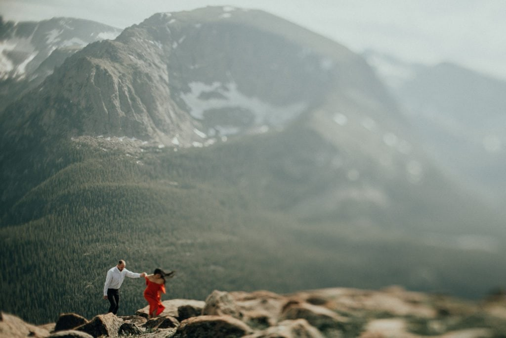 "ROCKY MOUNTAIN NATIONAL PARK ENGAGEMENT | ESTES PARK ENGAGEMENT PHOTOGRAPHY | TRAIL RIDGE ROAD ENGAGEMENT | SUMMER + JORDAN | COLORADO MOUNTAIN ENGAGEMENT PHOTOGRAPHER ""Nature's Knife Edge"" TRAIL RIDGE ROAD"