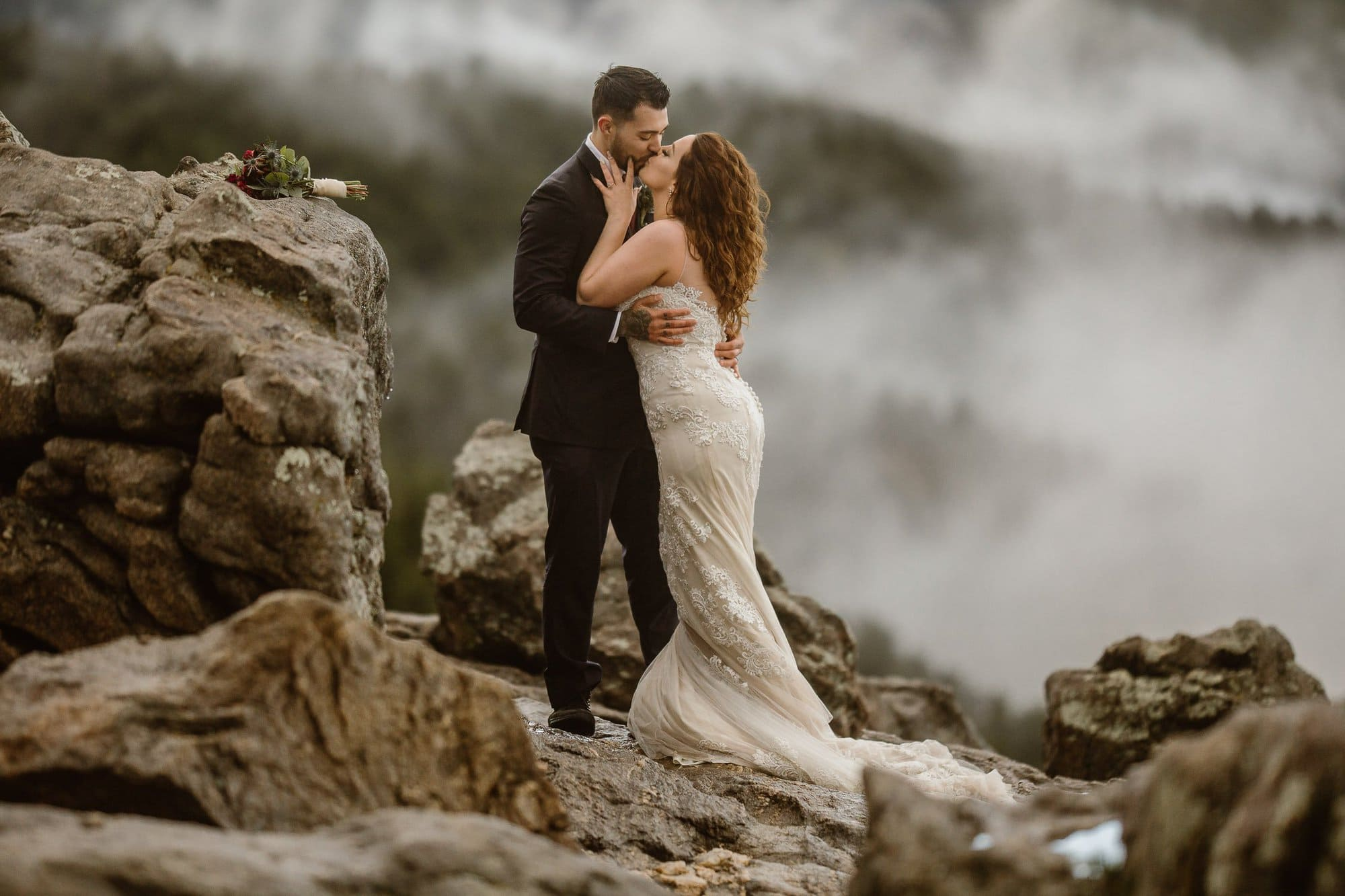 Walking on the clouds, commenting lives to each other on the top of the world in Colorado, Boulder Photos by Justyna E Butler Photography Colorado Elopement Photographer