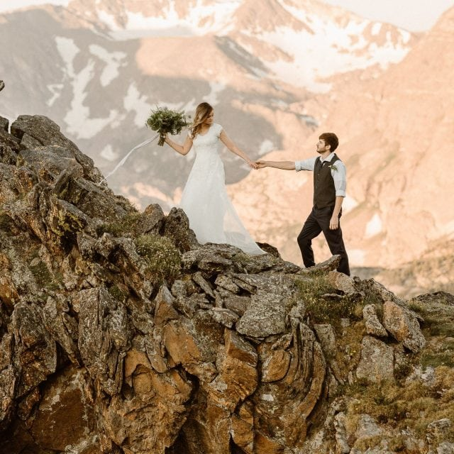 Colorado Elopement Photographer, Intimate Weddings for Boho Brides who prefer hiking boots than heels