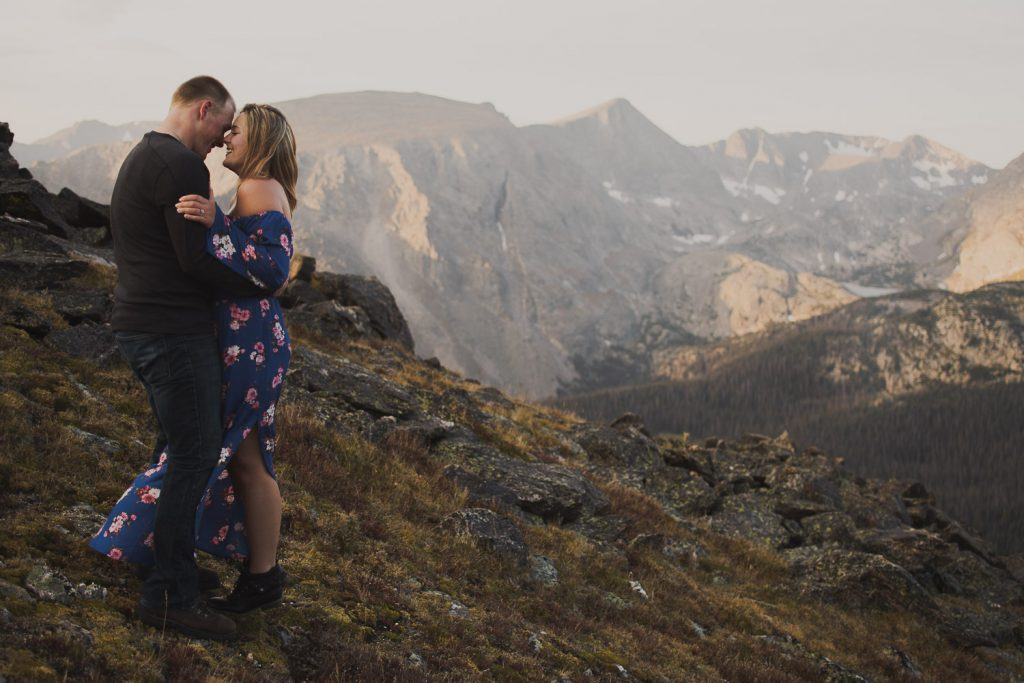 Sunrise Adventure Engagement in Estes Park Colorado