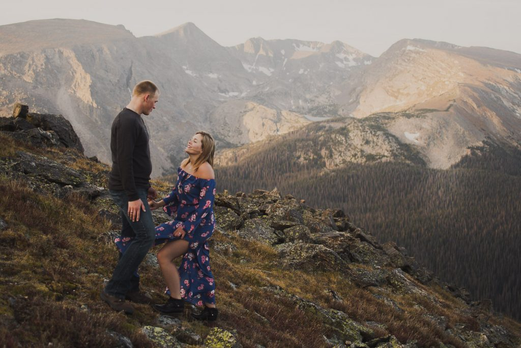 Romantic alpine escapes for engagement Sessions