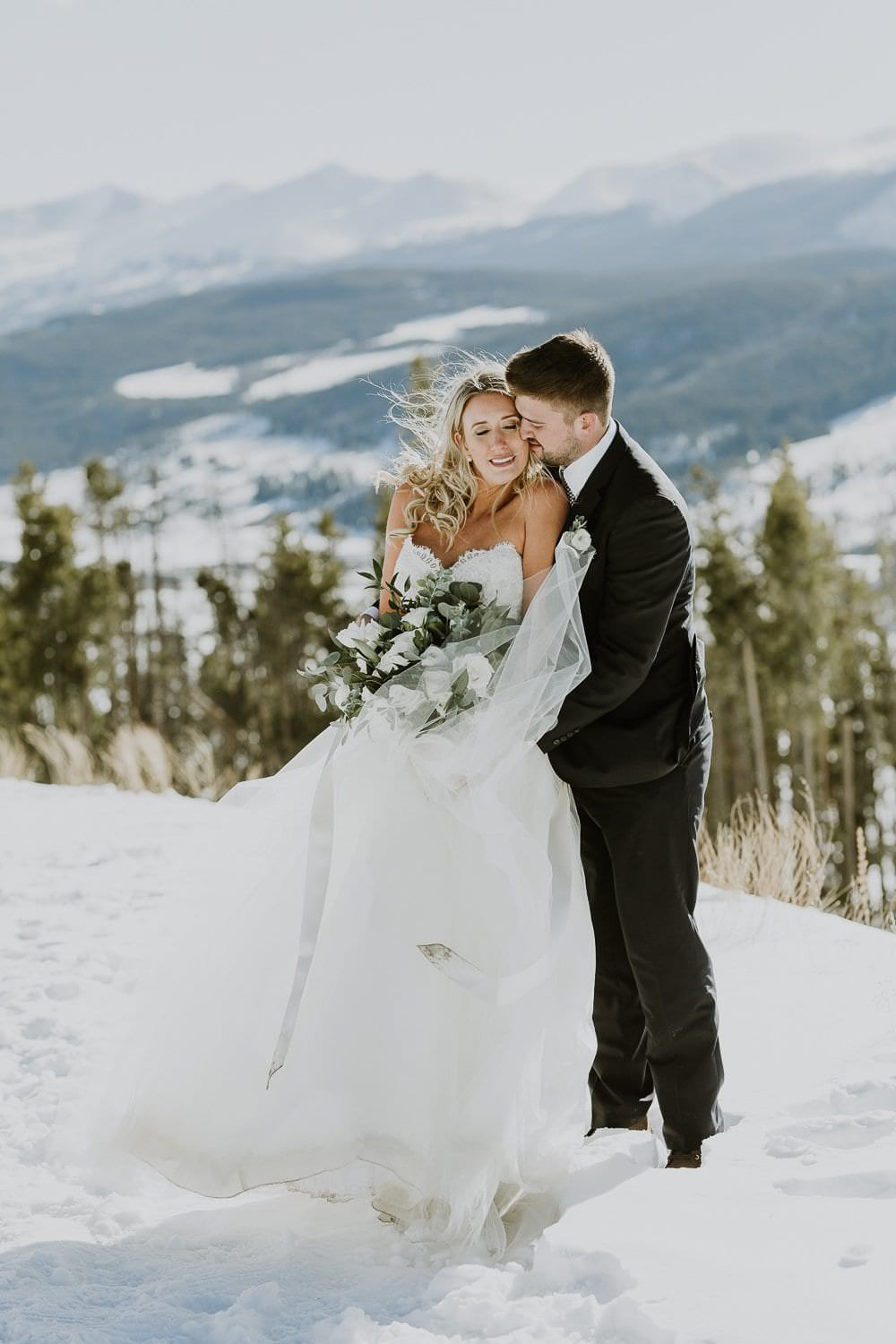 Intimate Winter Mountain Elopement In The Rockies Casey
