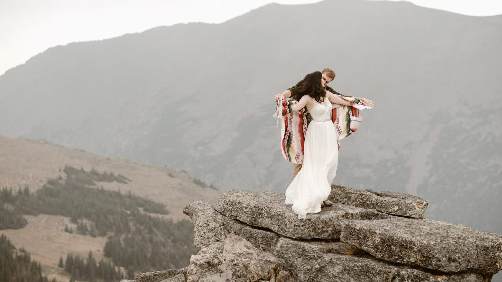 Dances on the top of the world, colorado Adventure Elopement Photographer