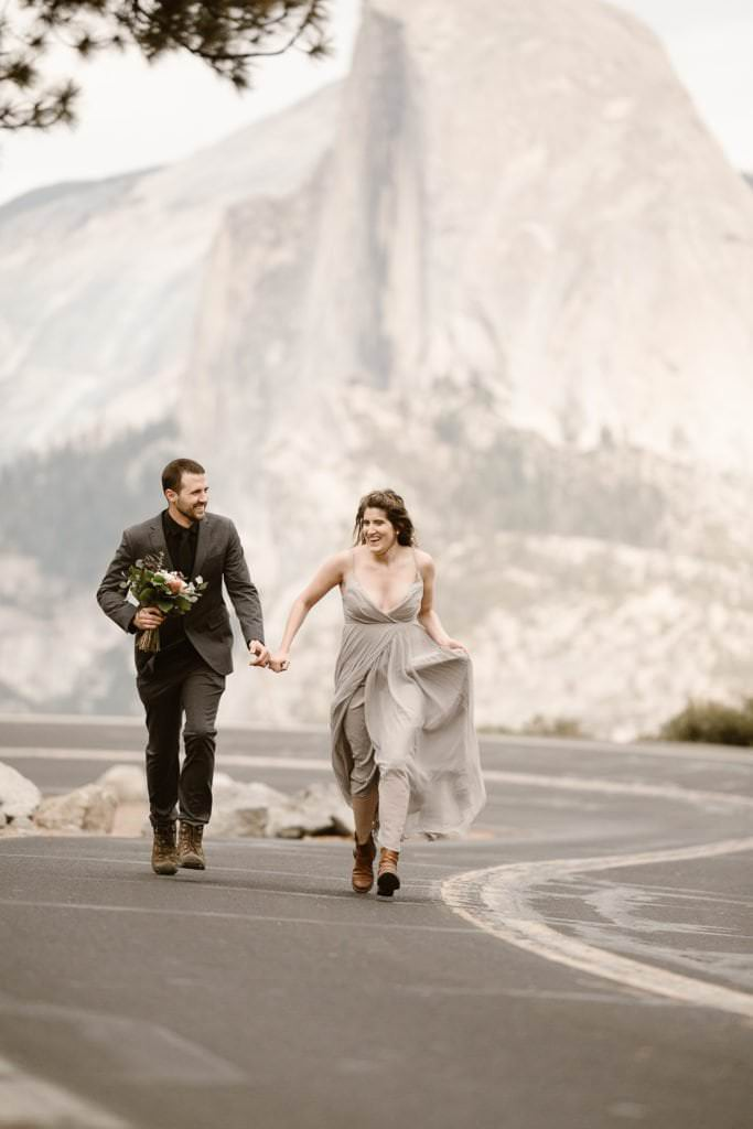 MARIE+EVAN'S ADVENTUROUS YOSEMITE NATIONAL PARK VOWS RENEWAL | SUNSET WEDDING CEREMONY AT TAFT POINT | DESTINATION ELOPEMENT PHOTOGRAPHER