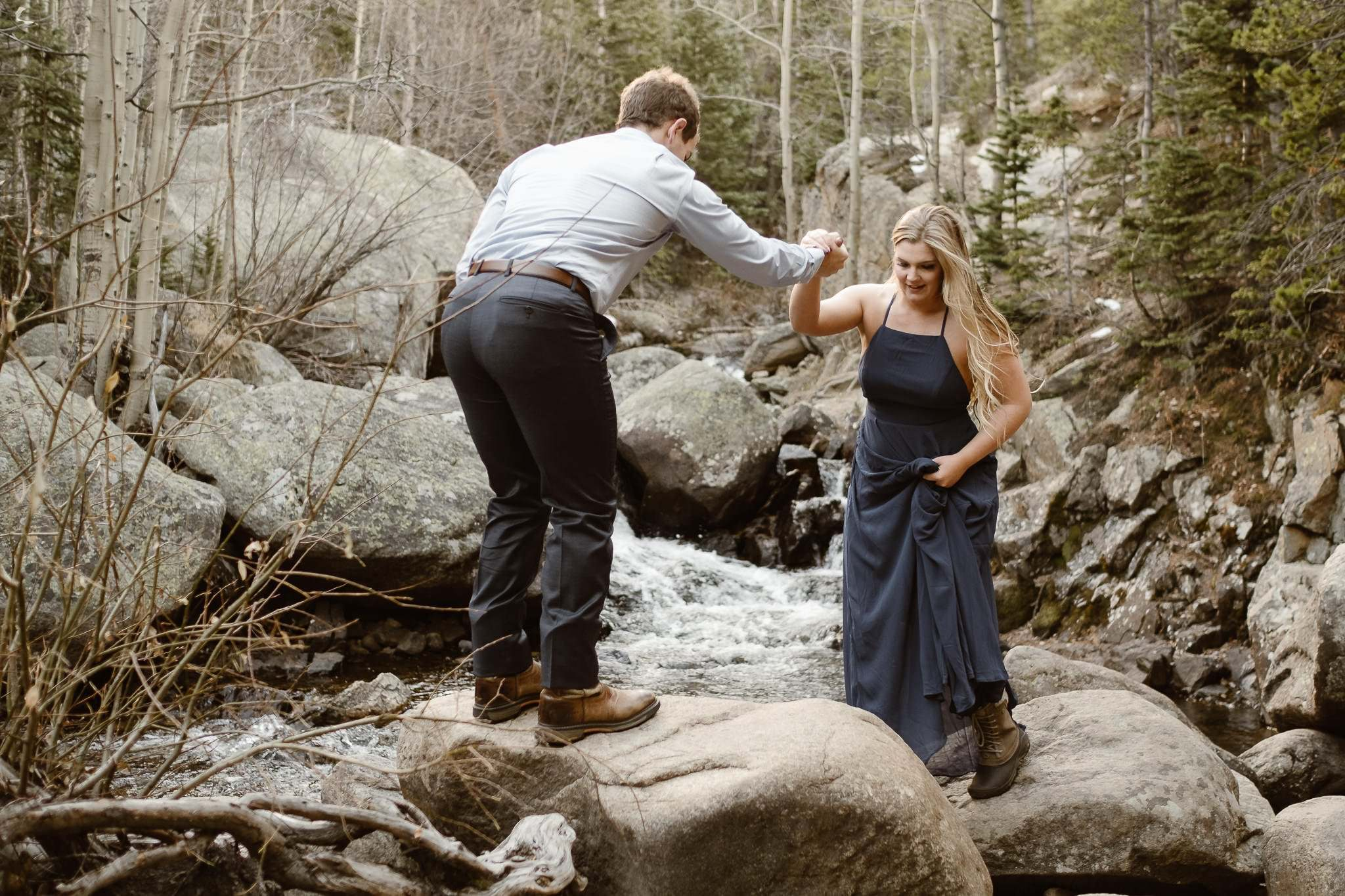 AMY+STEVEN'S HIKING ADVENTURE ROCKY MOUNTAIN NATIONAL PARK ADVENTURE | COLORADO ELOPEMENT PHOTOGRAPHER | DESTINATION ADVENTURE PHOTOGRAPHY