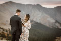 Windswept Sunrise Colorado Elopements Breckenridge