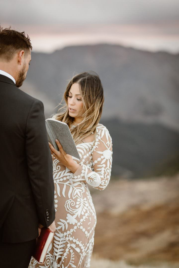Intimate Ceremony During Adventure Elopements