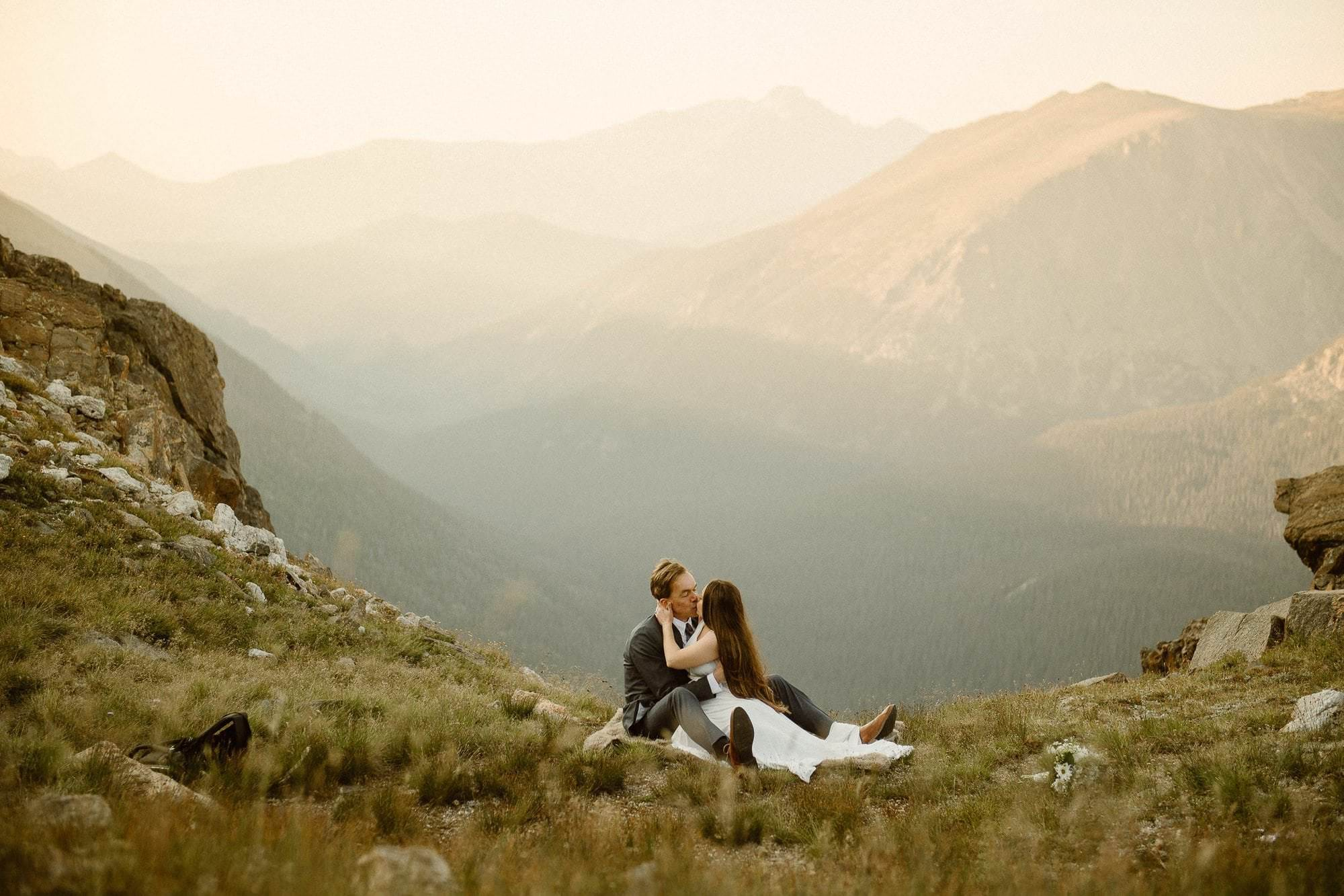 Colorado Sunrise. Colorado Intimate Weddings and Adventure Elopement Photographer | Rocky Mountain National Park Wedding Photographer | Adventure