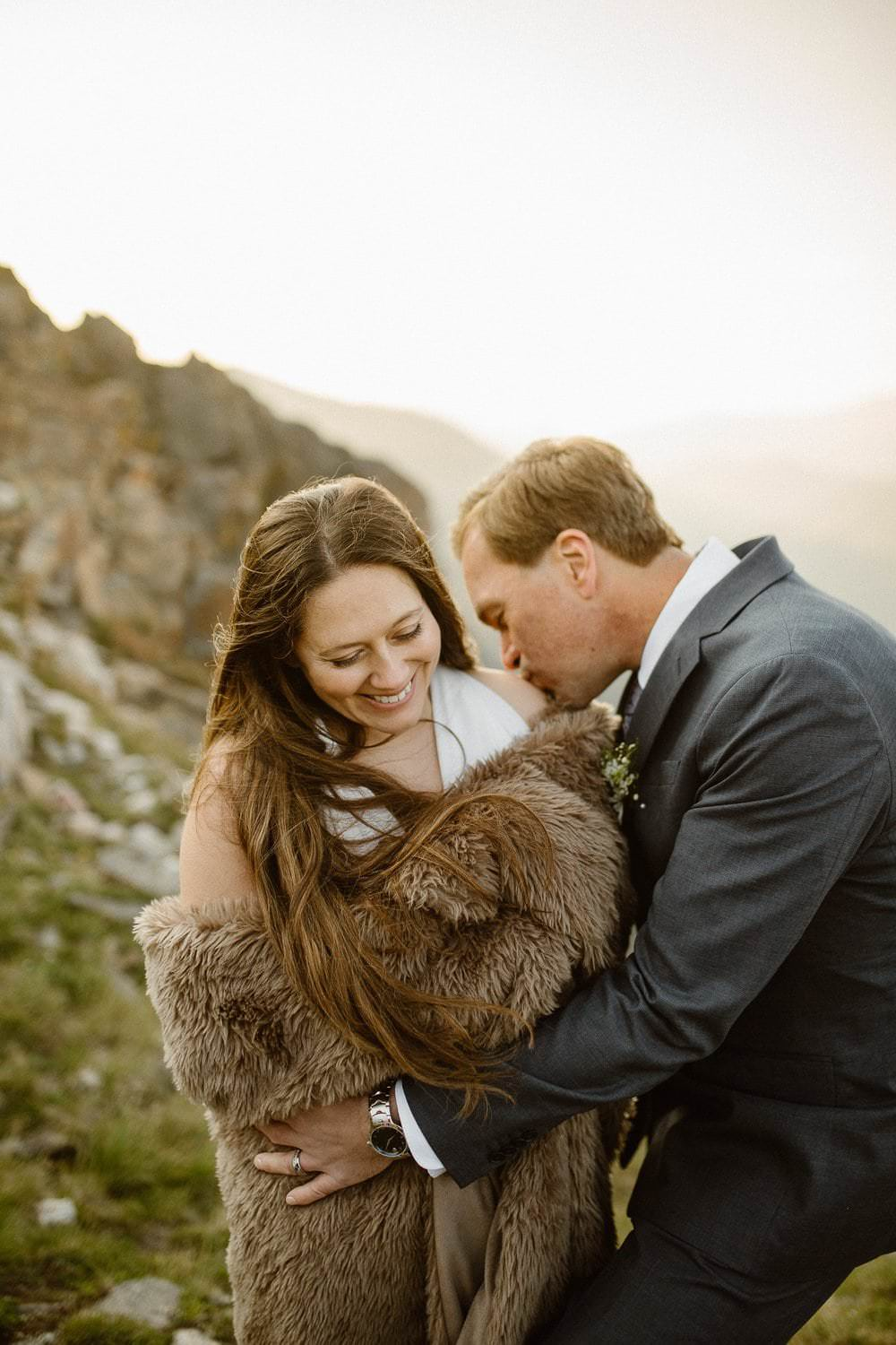 Wrapped in love above 12000 feet. Colorado Intimate Weddings and Adventure Elopement Photographer | Rocky Mountain National Park Wedding Photographer | Adventure