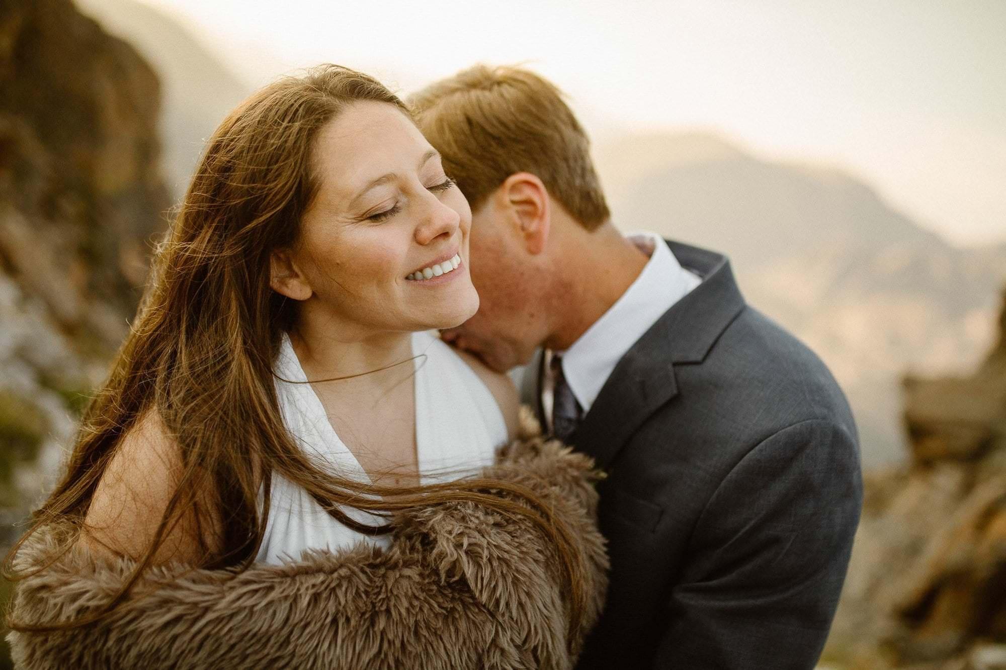 Sunrise at 1200 feet in Colorado. Colorado Intimate Weddings and Adventure Elopement Photographer | Rocky Mountain National Park Wedding Photographer | Adventure