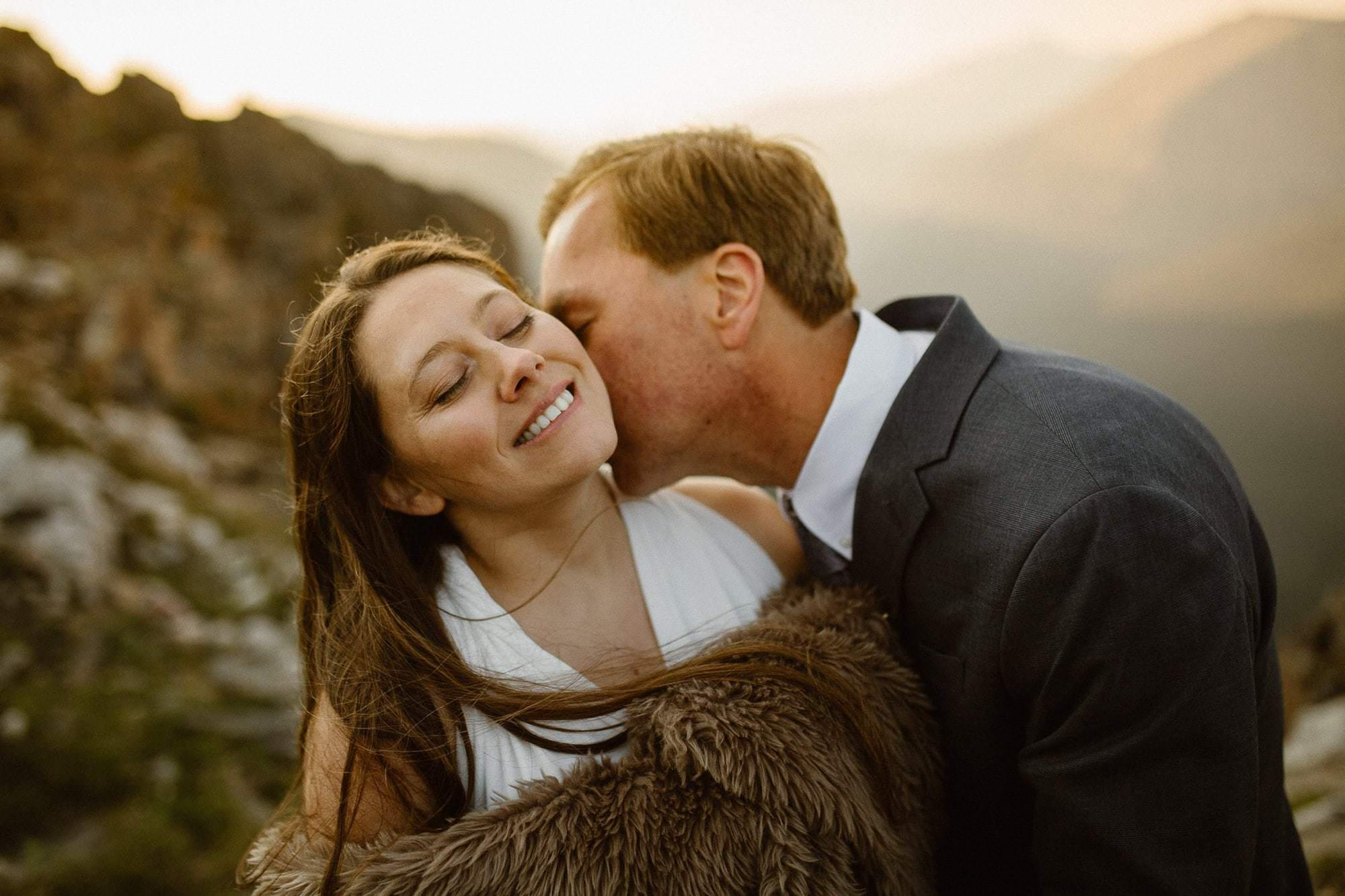 Estes Park Colorado sunrise adventure. Colorado Intimate Weddings and Adventure Elopement Photographer | Rocky Mountain National Park Wedding Photographer | Adventure