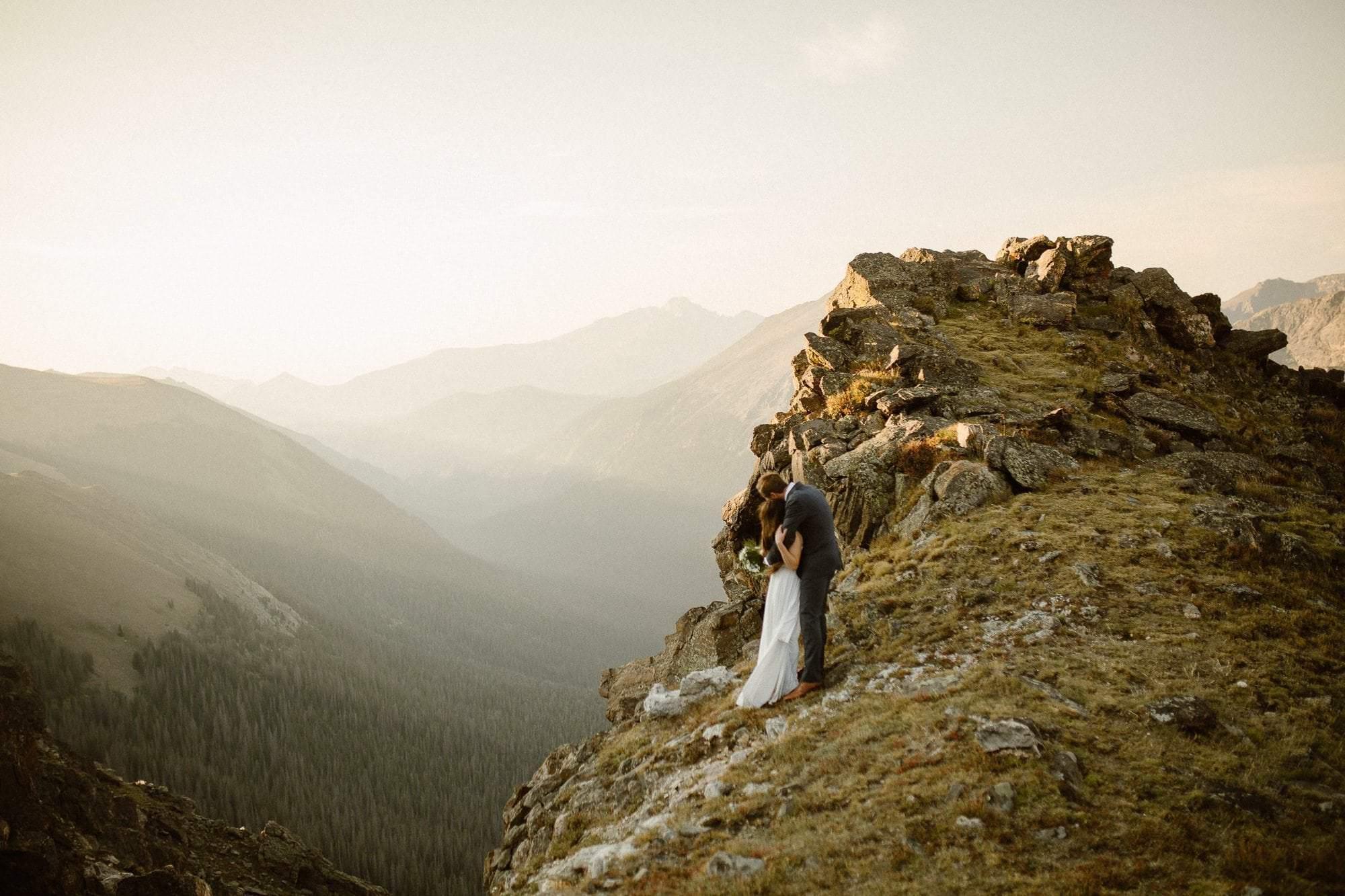 Colorado golden hour sunrise adventure session, Colorado Intimate Weddings and Adventure Elopement Photographer | Rocky Mountain National Park Wedding Photographer | Adventure