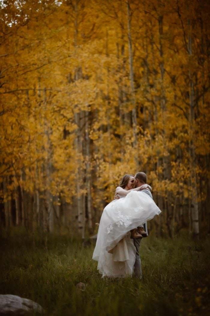 Autumn soaked Maroon Bells Wedding in Aspen