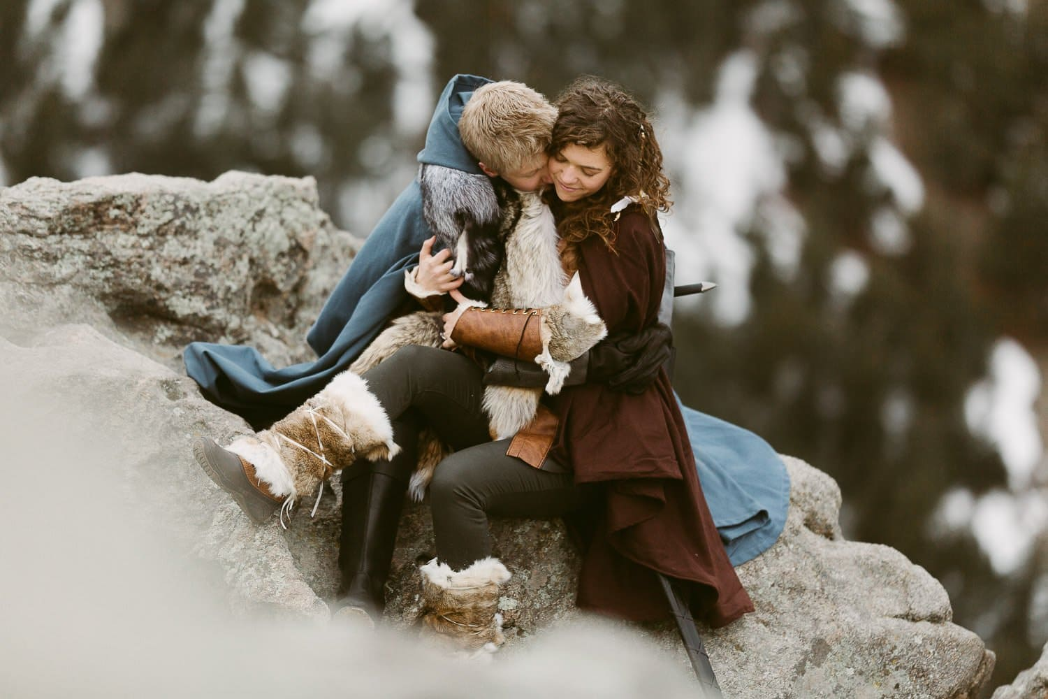 GAME OF THRONES INSPIRED ADVENTURE COUPLES SESSION | COLORADO ADVENTURE ELOPEMENT PHOTOGRAPHER| BOULDER COLORADO ADVENTURE PHOTOGRAPHY| LOST GULCH OUTLOOK ADVENTURE