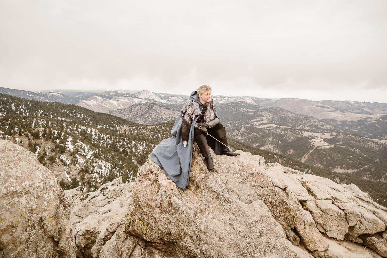GAME OF THRONES INSPIRED ADVENTURE TRAVEL SESSION | COLORADO ADVENTURE ELOPEMENT PHOTOGRAPHER