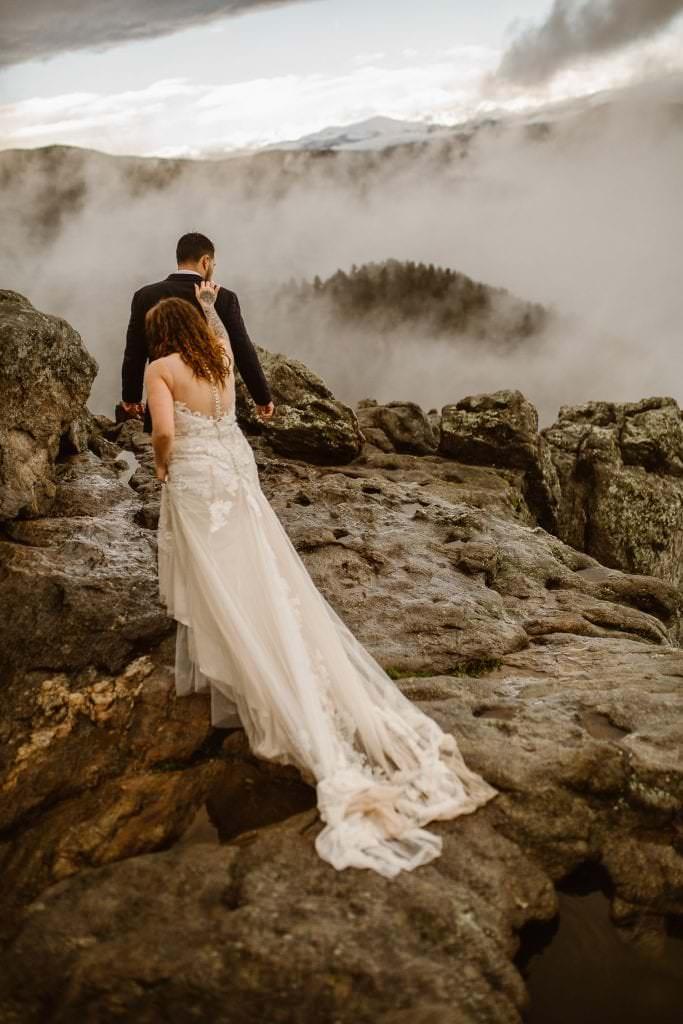 Foggy Colorado Wedding