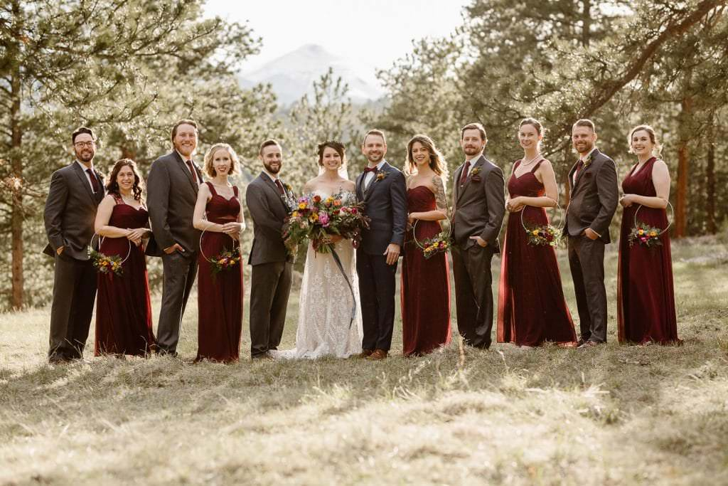 We're Obsessed with Every Inch of This bridal party at DELLA TERRA MOUNTAIN CHATEAU COLORADO WEDDING | COLORADO WEDDING PHOTOGRAPHER | ESTES PARK COLORADO