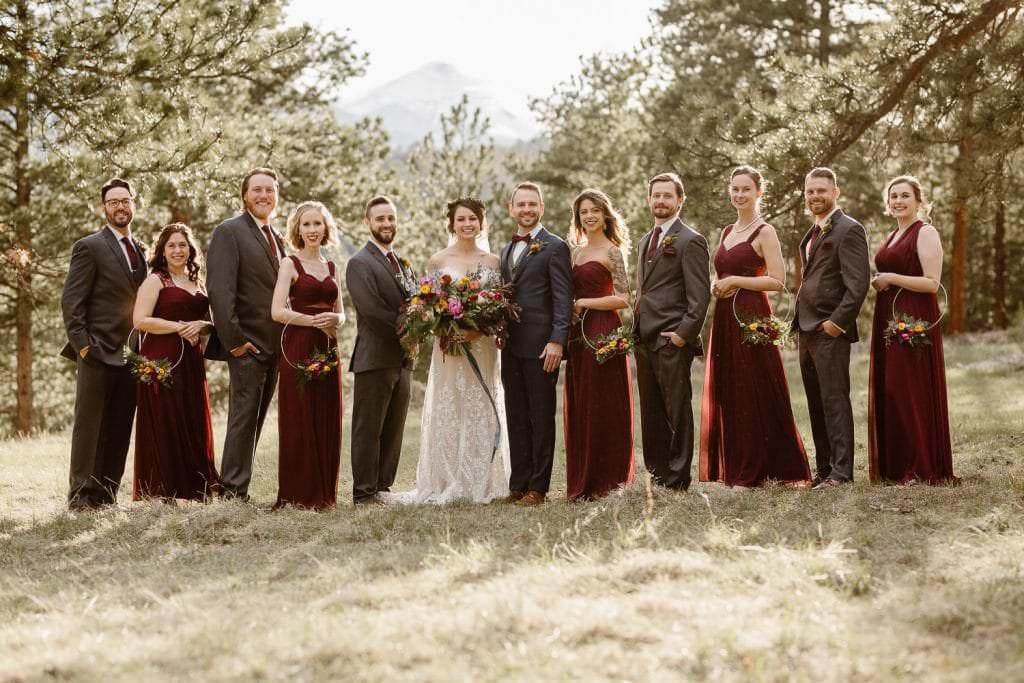 We're Obsessed with Every Inch of This bridal party at DELLA TERRA MOUNTAIN CHATEAU COLORADO WEDDING | COLORADO WEDDING PHOTOGRAPHER | ESTES PARK COLORADO