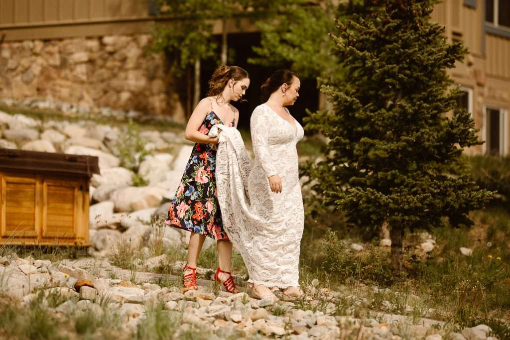 First Look Breckenridge Wedding, Destination Intimate Wedding