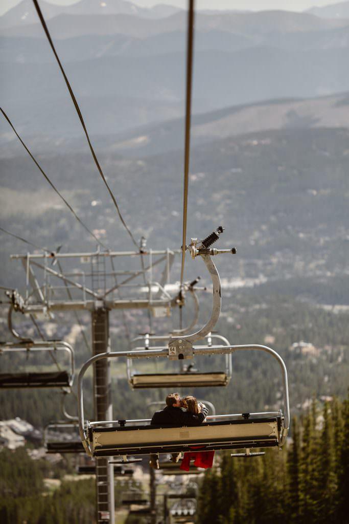 COLORADO ALPINE HIKING ADVENTURE ENGAGEMENT | COLORADO ADVENTURE ENGAGEMENT PHOTOGRAPHER | BRECKENRIDGE SKI LIFT ADVENTURE
