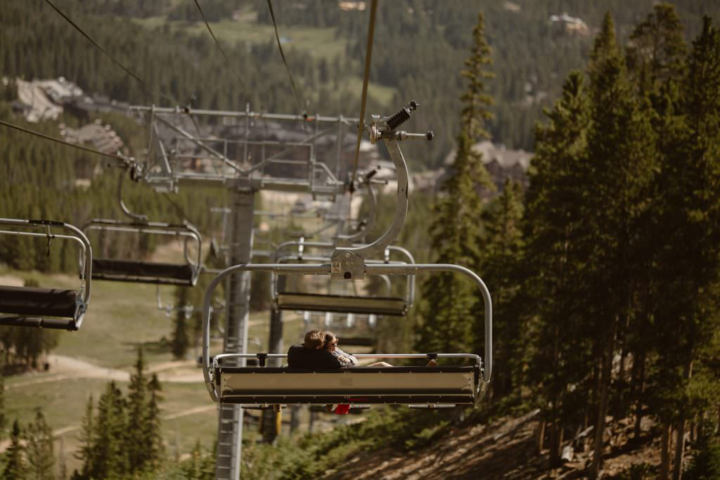 COLORADO ALPINE HIKING ADVENTURE ENGAGEMENT | COLORADO ADVENTURE ENGAGEMENT  PHOTOGRAPHER | BRECKENRIDGE SKI LIFT ADVENTURE