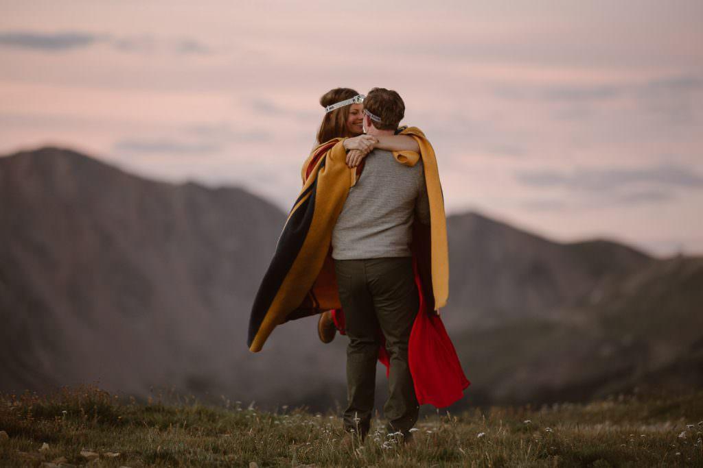 Sunrise Adventures in Colorado for Engagement