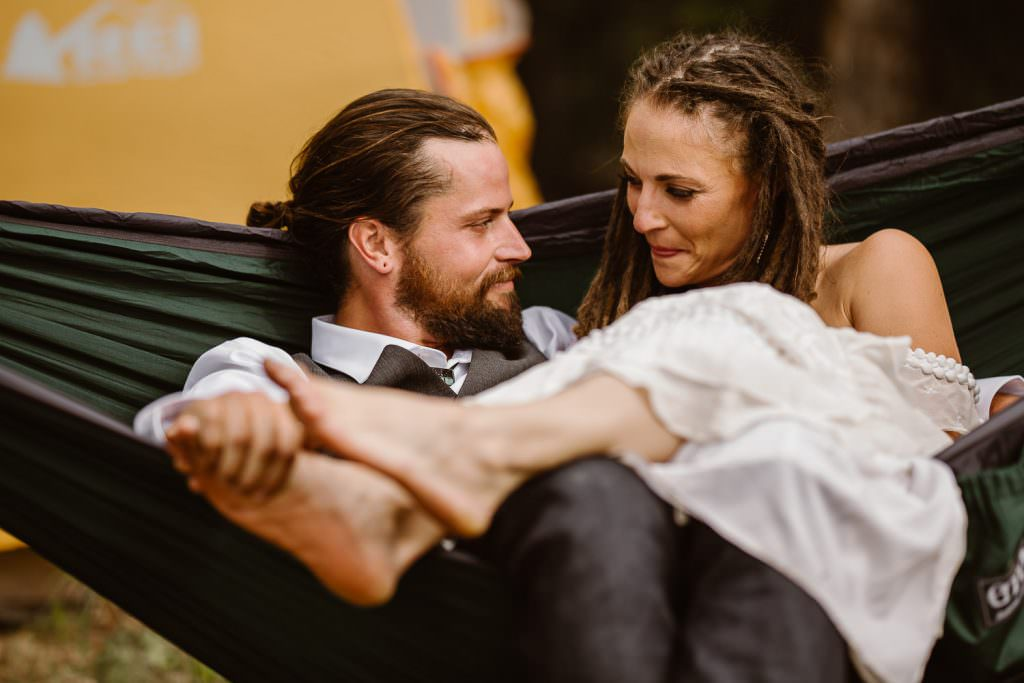 Wyoming trails adventure wedding at campside