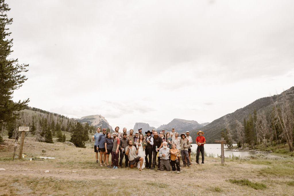 The CDT Trail HIKERS at Jamie + Nick Highline Trail Adventure Elopement | CDT Hiking Elopement | Continental Divide Trail Adventure Elopement | Destination Adventure Wedding Photographer | Wyoming Wind River Range Adventure Elopement | Jamie + Nick