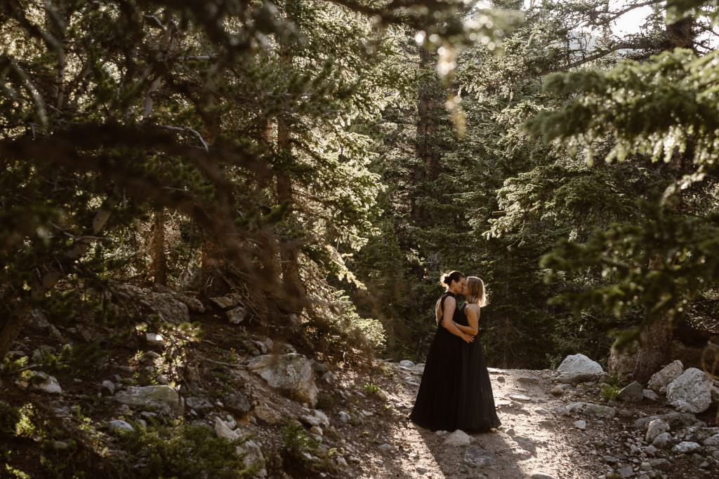 Lesbian Same Sex Couple in Colorado Engagement Session