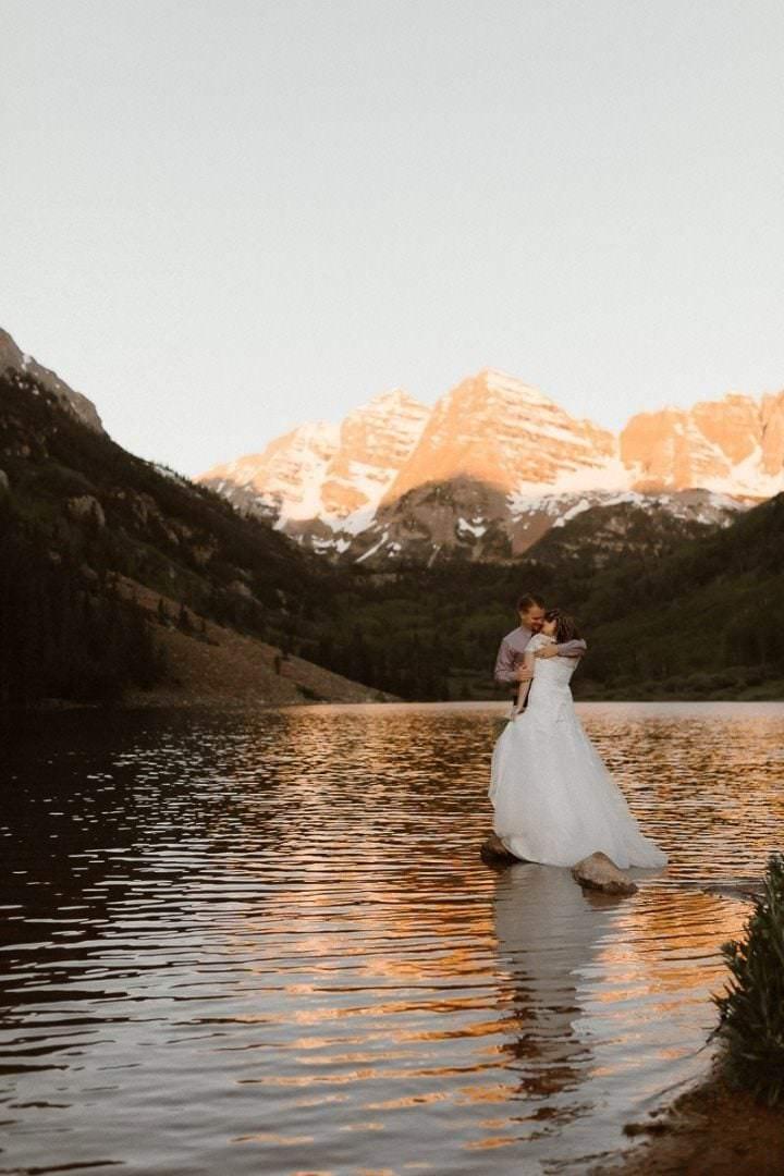 Maroon Bells, Aspen Adventure Elopement Photographer, Colorado Elopement Photographer