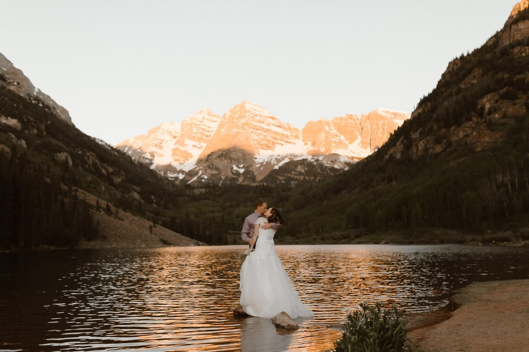 Maroon Bells, Aspen Adventure Elopement Photographer, Colorado Elopement Photographer