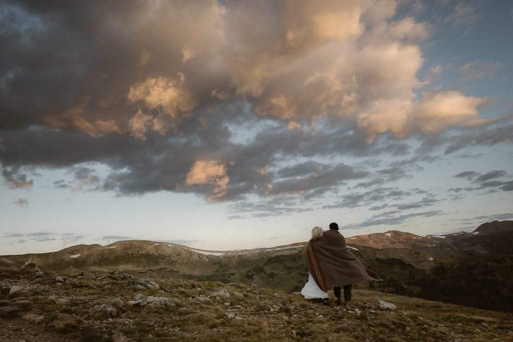 Best Denver Mountain Wedding Photographers, ADventure Wedding at 12000 feet in Colorado