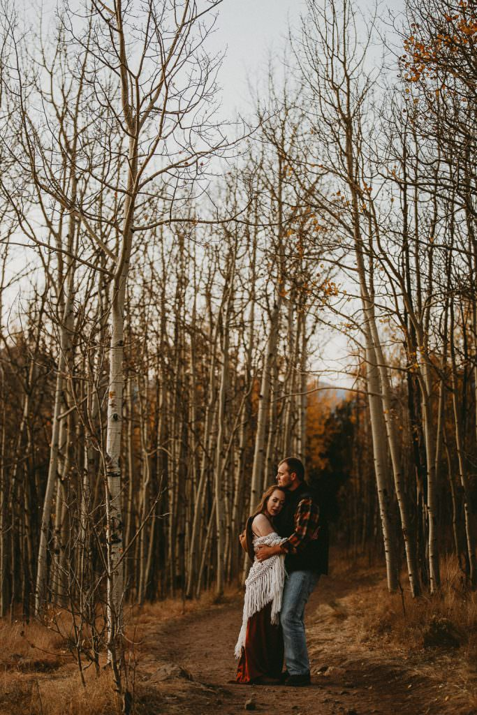 Kenosha Pass in the Fall Engagement | Colorado Adventure Engagement Photographer