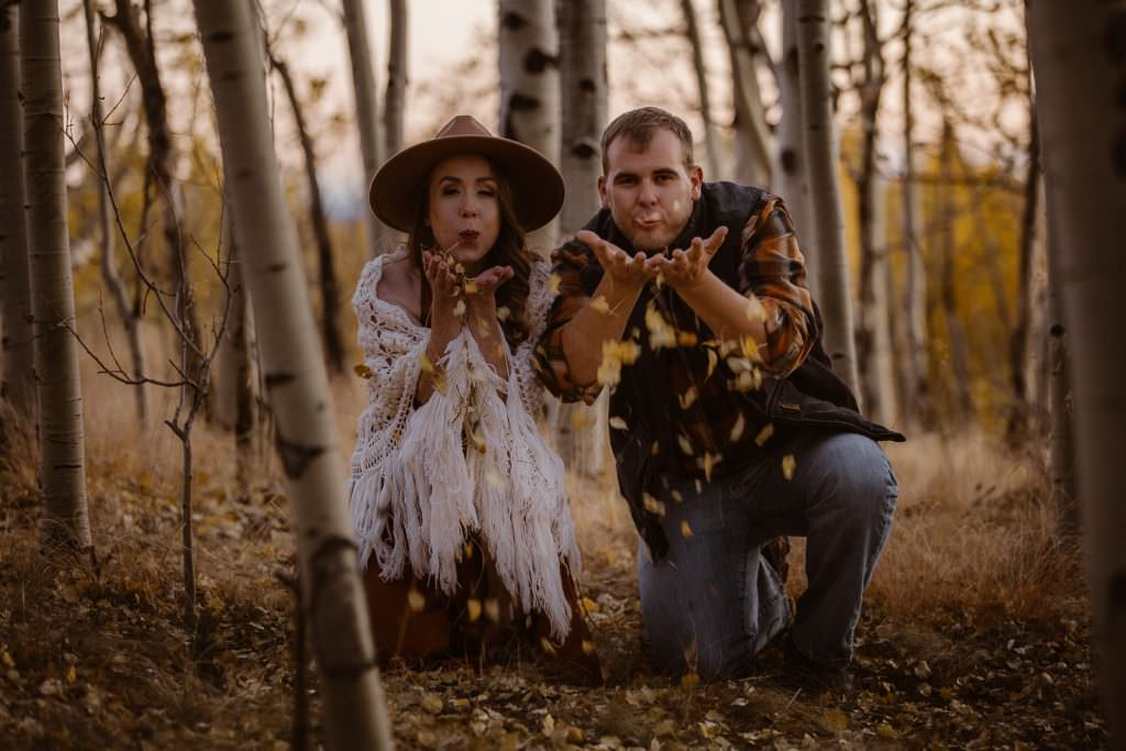 Kenosha Pass in the Fall Adventure | Colorado Adventure Engagement Photographer