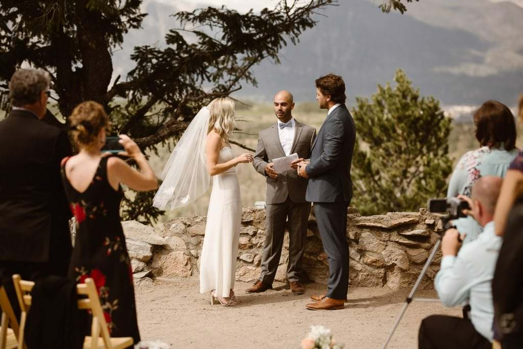 Wedding Photos at Sapphire Point during intimate wedding in Colorado