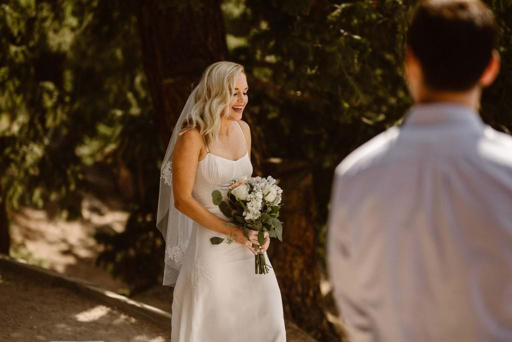 adventure Bride walking down the ile during her wedding day, Justyna E Butler Photography