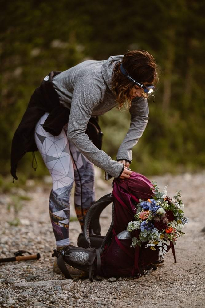 Hiking for your wedding in Colorado, Justyna E Butler Photography, Colorado Adventure Weddings Photographers