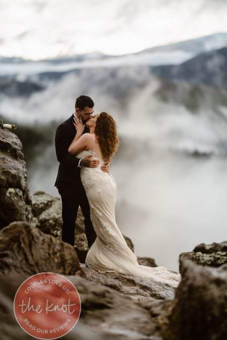 Featured on The Knot Weddings, Colorado Elopement Photographer, Justyna E Butler Photography