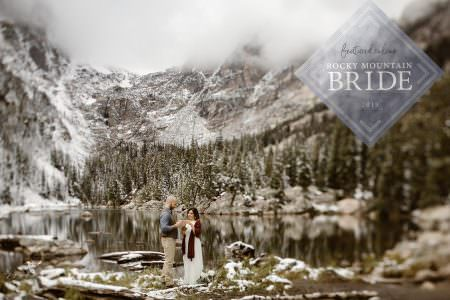 Featured on Rocky Mountain Bride Weddings + Adventure Elopements , Colorado Elopement Photographer, Justyna E Butler Photography