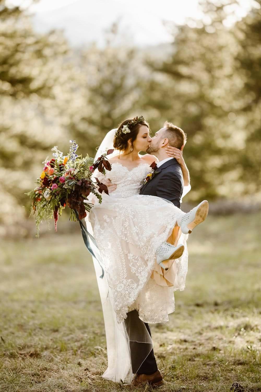 Estes Park Mountain Venue | Split Colorado Adventure Wedding Collection | Pet Friendly Colorado Wedding Venue | Colorado Wedding Photographer | Julianne + Darren Love Story
