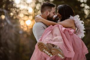 An Epic Pink Dress For This Boho Adventure Winter Engagement Adventure Call it the Magic of Colorado, Dreamy Winter Wonderland Adventure in Rocky Mountains | Justyna E Butler Photography | Cinematic & Emotive Wedding, Elopements and Engagements for Non Traditional Couples