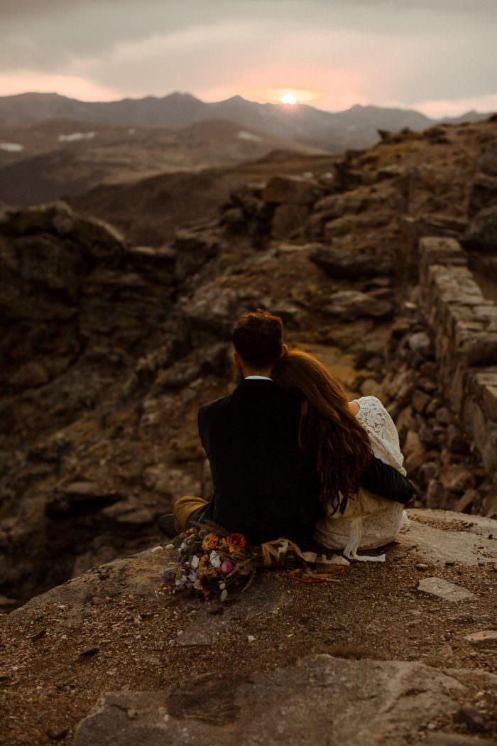Top Of The Rockies Stormy Mountain Colorado Adventure | Colorado Adventure Elopement and Wedding Photographer